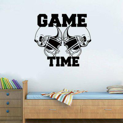 Fashion Stickers American Football Helmets GAME TIME Sports Wall Sticker  Vinyl Art Decor Decal ...