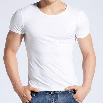 Mens Daily Plus Size Casual Solid Round Neck Short Sleeves Cotton Summer T-shirtMens T-shirts<br>Mens Daily Plus Size Casual Solid Round Neck Short Sleeves Cotton Summer T-shirt<br><br>Collar: Round Neck<br>Material: Cotton<br>Package Contents: 1 X T-shirt<br>Pattern Type: Solid<br>Sleeve Length: Short Sleeves<br>Style: Casual<br>Weight: 0.1800kg