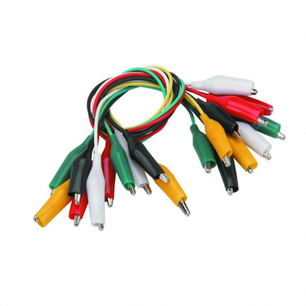 Test Leads with Alligator Clips Electrical - Multicolored (10 Pack ...