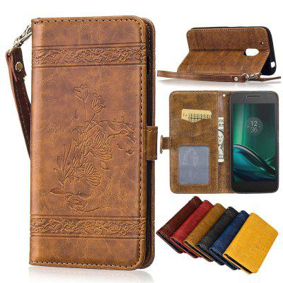 for MOTO G4 PLAY Case Cover Embossed Oil Wax Lines Phone Case Cover PU Leather Wallet Style CaseCases &amp; Leather<br>for MOTO G4 PLAY Case Cover Embossed Oil Wax Lines Phone Case Cover PU Leather Wallet Style Case<br><br>Color: Black,Red,Blue,Brown,Gold,Wine red<br>Features: Full Body Cases, Cases with Stand, With Credit Card Holder, With Lanyard, Anti-knock, Dirt-resistant<br>Material: PU Leather, TPU<br>Package Contents: 1 x Phone Case<br>Package size (L x W x H): 14.50 x 7.50 x 1.50 cm / 5.71 x 2.95 x 0.59 inches<br>Package weight: 0.0700 kg<br>Style: Floral, Vintage/Nostalgic Euramerican Style, Funny, Cool, Special Design, Novelty, Vintage