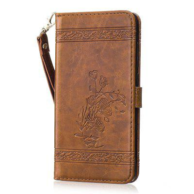for Redmi Note4 Case Cover Embossed Oil Wax Lines Phone Case Cover PU Leather Wallet Style Case