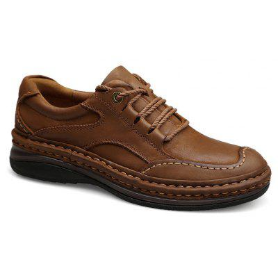 Season First Layer of Rubber Casual Leather Shoes