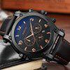 GIMTO Brand Luxury Gold Men Watch Quartz Leather Cool Military Male Watches Waterproof Cool Sport Wristwatch Relogio Rel - BLACK