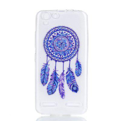 for Lenovo K5 Blue Bell Soft Clear TPU Phone Casing Mobile Smartphone Cover Shell Case