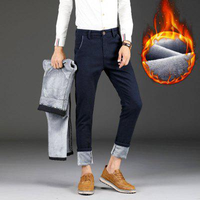 Mens Fleece Lined Winter Thicken Warm Stretch PantsMens Pants<br>Mens Fleece Lined Winter Thicken Warm Stretch Pants<br><br>Closure Type: Zipper Fly<br>Elasticity: Micro-elastic<br>Fabric Type: Broadcloth<br>Fit Type: Straight<br>Front Style: Flat<br>Length: Normal<br>Material: Cotton, Polyester, Spandex<br>Package Contents: 1xPants<br>Package size (L x W x H): 1.00 x 1.00 x 1.00 cm / 0.39 x 0.39 x 0.39 inches<br>Package weight: 0.5000 kg<br>Pant Style: Straight<br>Pattern Type: Solid<br>Style: Casual<br>Thickness: Thick<br>Waist Type: Mid