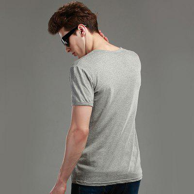 Mens Elastic Cotton T-ShirtMens T-shirts<br>Mens Elastic Cotton T-Shirt<br><br>Collar: V-Neck<br>Material: Cotton, Spandex<br>Package Contents: 1 x T-Shirt<br>Pattern Type: Solid<br>Sleeve Length: Short Sleeves<br>Style: Casual<br>Weight: 0.2000kg