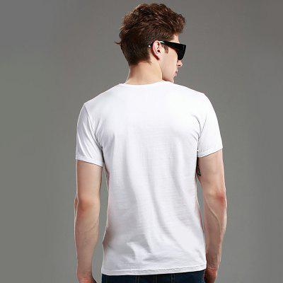 Mens Elastic Cotton T - ShirtMens T-shirts<br>Mens Elastic Cotton T - Shirt<br><br>Collar: Round Neck<br>Material: Cotton, Spandex<br>Package Contents: 1xT-Shirt<br>Pattern Type: Solid<br>Sleeve Length: Short Sleeves<br>Style: Casual<br>Weight: 0.2000kg