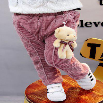 Girls Corduroy Cartoon Bear BreechesGirls bottoms<br>Girls Corduroy Cartoon Bear Breeches<br><br>Closure Type: Elastic Waist<br>Elasticity: Elastic<br>Embellishment: Appliques<br>Fabric Type: Corduroy<br>Fit Type: Straight<br>Length: Normal<br>Material: Cotton, Cotton Blend<br>Package Contents: 1xThe trousers<br>Pant Style: Straight<br>Pattern Type: Character<br>Style: Formal<br>Waist Type: Mid<br>Weight: 0.1000kg