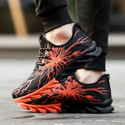 New Lightning Blade Sports ShoesMen's Sneakers<br>New Lightning Blade Sports Shoes<br><br>Available Size: 39-45<br>Closure Type: Lace-Up<br>Feature: Massage<br>Gender: For Men<br>Outsole Material: Rubber<br>Package Contents: 1xshoes(pair)<br>Package Size(L x W x H): 33.00 x 20.00 x 12.00 cm / 12.99 x 7.87 x 4.72 inches<br>Package weight: 0.8000 kg<br>Pattern Type: Geometric<br>Season: Spring/Fall<br>Upper Material: PU