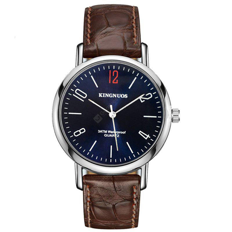 Fashion Simplicity Classic Casual Quartz Watch Waterproof Analog Leather Strap