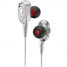 In-Ear Earbuds Dual Driver High Resolution Stereo Wired Earphones with Microphone and Volume Control for IPhone Samsung