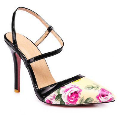Sexy High-Heeled Thin Shallow Mouth All-Match Pointed Word Buckle Sandals