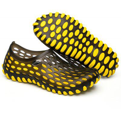 Fashion Lovers Hollow-Out Beach Sandals Summer Outdoor Sports Casual Slippers EU Size 36-45Mens Sandals<br>Fashion Lovers Hollow-Out Beach Sandals Summer Outdoor Sports Casual Slippers EU Size 36-45<br><br>Available Size: 36-45<br>Closure Type: Slip-On<br>Embellishment: Metal<br>Gender: Unisex<br>Heel Hight: 1-2cm<br>Occasion: Casual<br>Outsole Material: PVC<br>Package Contents: 1 x pair of shoes<br>Pattern Type: Solid<br>Sandals Style: Slides<br>Style: Fashion<br>Upper Material: PVC<br>Weight: 0.7290kg