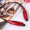Bluetooth Headset Sport Wireless Headphone Earphone With Mic Stereo Sound - RED
