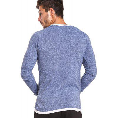Buy BLUE XL Taddlee Long Sleeve T Shirt Men Solid Color Soft O Neck Sweatshirt Basic Active Stretch Apparel Hip Hop Street Casual for $18.13 in GearBest store