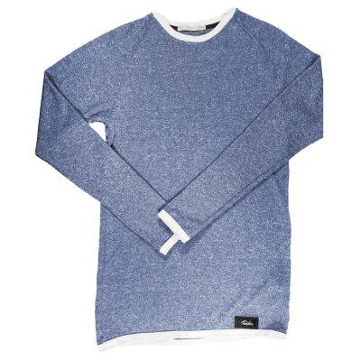 Buy BLUE L Taddlee Long Sleeve T Shirt Men Solid Color Soft O Neck Sweatshirt Basic Active Stretch Apparel Hip Hop Street Casual for $20.99 in GearBest store