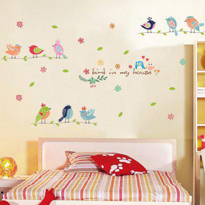 Creative cute bird wall can remove decorative wall stickersWall Stickers<br>Creative cute bird wall can remove decorative wall stickers<br><br>Art Style: Plane Wall Stickers<br>Function: Decorative Wall Sticker<br>Material: Vinyl(PVC)<br>Package Contents: 1 x Wall Sticker<br>Package size (L x W x H): 50.00 x 5.00 x 5.00 cm / 19.69 x 1.97 x 1.97 inches<br>Package weight: 0.1800 kg<br>Product size (L x W x H): 50.00 x 70.00 x 0.50 cm / 19.69 x 27.56 x 0.2 inches<br>Product weight: 0.1200 kg<br>Quantity: 1<br>Subjects: Fashion,Letter,Cartoon,Botanical,Landscape,Words / Quotes<br>Suitable Space: Living Room,Bathroom,Bedroom,Dining Room,Office,Cafes,Kids Room,Kitchen,Kids Room,Study Room / Office,Boys Room,Girls Room<br>Type: Plane Wall Sticker