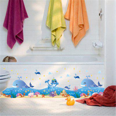 New Style Cartoon Happy Marine Whale Decorative Wall StickersWall Stickers<br>New Style Cartoon Happy Marine Whale Decorative Wall Stickers<br><br>Art Style: Plane Wall Stickers<br>Function: Decorative Wall Sticker<br>Material: Vinyl(PVC)<br>Package Contents: 1 x Wall Sticker<br>Package size (L x W x H): 50.00 x 5.00 x 5.00 cm / 19.69 x 1.97 x 1.97 inches<br>Package weight: 0.1800 kg<br>Product size (L x W x H): 50.00 x 70.00 x 0.50 cm / 19.69 x 27.56 x 0.2 inches<br>Product weight: 0.1200 kg<br>Quantity: 1<br>Subjects: Fashion,Leisure,Cartoon,Landscape<br>Suitable Space: Bathroom,Bedroom,Office,Cafes,Kids Room,Kitchen,Kids Room,Boys Room,Girls Room<br>Type: Plane Wall Sticker