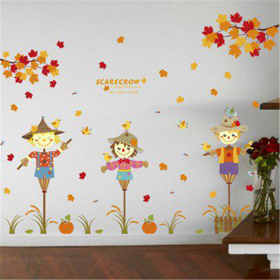 New Style Cartoon Scarecrow Decorative Wall StickersWall Stickers<br>New Style Cartoon Scarecrow Decorative Wall Stickers<br><br>Art Style: Plane Wall Stickers, Toilet Stickers<br>Function: Decorative Wall Sticker<br>Material: Vinyl(PVC)<br>Package Contents: 1 x Wall Sticker<br>Package size (L x W x H): 60.00 x 5.00 x 5.00 cm / 23.62 x 1.97 x 1.97 inches<br>Package weight: 0.2000 kg<br>Product size (L x W x H): 60.00 x 90.00 x 0.50 cm / 23.62 x 35.43 x 0.2 inches<br>Product weight: 0.1500 kg<br>Quantity: 1<br>Subjects: Fashion,Letter,Leisure,Cute,Cartoon,Landscape<br>Suitable Space: Living Room,Bedroom,Dining Room,Kids Room,Kids Room,Boys Room,Girls Room<br>Type: Plane Wall Sticker