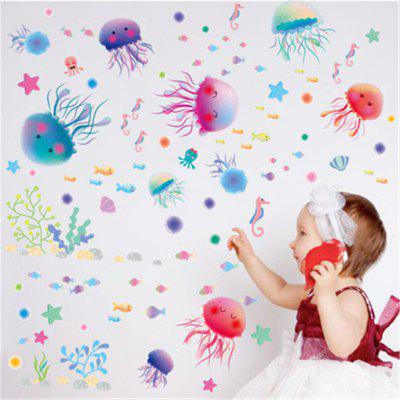 New Style Lovely Colorful Jellyfish Decorative Wall StickersWall Stickers<br>New Style Lovely Colorful Jellyfish Decorative Wall Stickers<br><br>Art Style: Plane Wall Stickers, Toilet Stickers<br>Function: Decorative Wall Sticker<br>Material: Vinyl(PVC)<br>Package Contents: 1 x Wall Sticker<br>Package size (L x W x H): 30.00 x 5.00 x 5.00 cm / 11.81 x 1.97 x 1.97 inches<br>Package weight: 0.1500 kg<br>Product size (L x W x H): 30.00 x 45.00 x 0.50 cm / 11.81 x 17.72 x 0.2 inches<br>Product weight: 0.1200 kg<br>Quantity: 1<br>Subjects: Leisure,Cartoon<br>Suitable Space: Bathroom,Bedroom,Kids Room,Kids Room,Boys Room,Girls Room<br>Type: Plane Wall Sticker