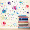 New Style Lovely Colorful Jellyfish Decorative Wall Stickers - COLORMIX