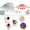 TODO 10pcs 3D Beauty Mermaid Brush Multicolor Foundation Eyeshadow Blusher Brushes Set - COLORFUL