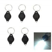 Mini LED Keychain Flashlight Keyring Torch White Light 5PCS