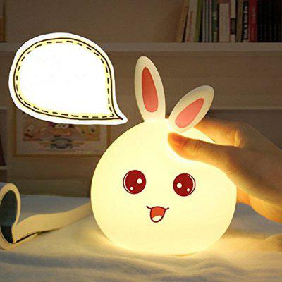 KWB Silicone Touch Sensor LED Night Light Color Changing Breathing Rabit Valentine Gift usb rechargeable touch sensor led cartoon birdcage night light
