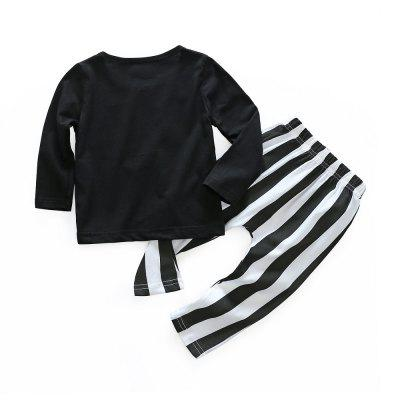 2018 Spring Baby Girl Pure Cotton Letter Stripe Pantsuitbaby clothing sets<br>2018 Spring Baby Girl Pure Cotton Letter Stripe Pantsuit<br><br>Closure Type: Pullover<br>Collar: Round Neck<br>Fabric Type: Jersey<br>Gender: Girl<br>Material: Cotton<br>Package Contents: 1 x Suit<br>Pattern Style: Letter<br>Season: Spring<br>Sleeve Length: Full<br>Sleeve Style: Regular<br>Style: Leisure<br>Thickness: Thin<br>Weight: 0.1300kg
