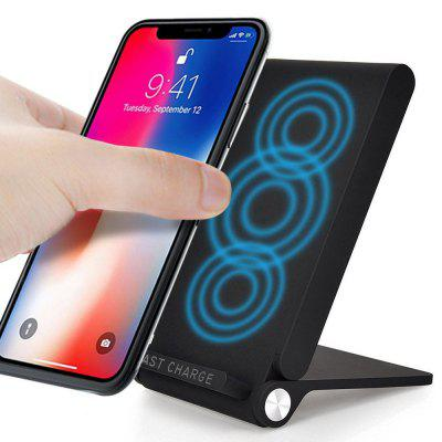 SpedCrd 3 Coil Qi Fast Wireless Charger Charging Pad Foldable Inductive Phone Charger Station