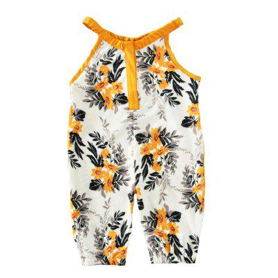 SOSOCOER Baby Girls Romper Flower and Leaf Printing Sling Bodysuitbaby rompers<br>SOSOCOER Baby Girls Romper Flower and Leaf Printing Sling Bodysuit<br><br>Brand: SOSOCOER<br>Closure Type: Pullover<br>Collar: Round Neck<br>Color: White,Yellow<br>Gender: Girl<br>Material: Cotton<br>Package Contents: 1 x Romper<br>Pattern Style: Floral<br>Season: Summer<br>Sleeve Length: Sleeveless<br>Sleeve Style: Tank<br>Style: Personality<br>Thickness: General<br>Weight: 0.1200kg