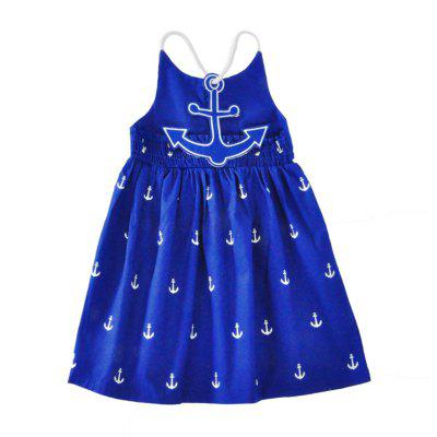 SOSOCOER Girls Dresses The 2018 Summer Anchor Print Halter DressGirls dresses<br>SOSOCOER Girls Dresses The 2018 Summer Anchor Print Halter Dress<br><br>Brand: SOSOCOER<br>Dresses Length: Knee-Length<br>Embellishment: Appliques<br>Material: Cotton<br>Package Contents: 1 x Dress<br>Pattern Type: Anchor<br>Season: Summer<br>Silhouette: A-Line<br>Sleeve Length: Sleeveless<br>Sleeve Type: Spaghetti Strap<br>Style: Fashion<br>Weight: 0.1080kg<br>With Belt: No