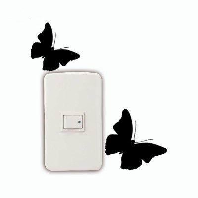 2 Pcs Butterflies Light Switch Stickers Creative Animal Silhouette Vinyl Wall DecalsWall Stickers<br>2 Pcs Butterflies Light Switch Stickers Creative Animal Silhouette Vinyl Wall Decals<br><br>Art Style: Plane Wall Stickers, Toilet Stickers<br>Artists: Others<br>Brand: DSU<br>Color Scheme: Black<br>Effect Size (L x W): 6 x 14.8 cm<br>Function: Decorative Wall Sticker<br>Layout Size (L x W): 6 x 14.8 cm<br>Material: Vinyl(PVC)<br>Package Contents: 2 x Wall Stickers<br>Package size (L x W x H): 10.00 x 16.00 x 1.00 cm / 3.94 x 6.3 x 0.39 inches<br>Package weight: 0.0300 kg<br>Product size (L x W x H): 6.00 x 14.80 x 0.01 cm / 2.36 x 5.83 x 0 inches<br>Product weight: 0.0200 kg<br>Quantity: 1 Set<br>Subjects: Fashion,Letter,Cute,Cartoon,Famous,Game<br>Suitable Space: Living Room,Bedroom,Hotel,Kids Room,Entry,Kitchen,Pathway,Door,Corridor,Hallway,Boys Room,Game Room<br>Type: Plane Wall Sticker