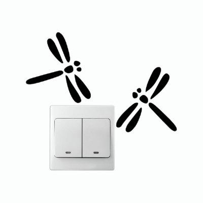 DSU Cute Dragonfly Switch Sticker Cartoon Animal Wall Sticker for Kids Room BedroomWall Stickers<br>DSU Cute Dragonfly Switch Sticker Cartoon Animal Wall Sticker for Kids Room Bedroom<br><br>Art Style: Plane Wall Stickers, Toilet Stickers<br>Artists: Others<br>Brand: DSU<br>Color Scheme: Black<br>Effect Size (L x W): 7.5 x 18.8 cm<br>Function: Light Switch Stickers, Decorative Wall Sticker<br>Layout Size (L x W): 7.5 x 18.8 cm<br>Material: Vinyl(PVC)<br>Package Contents: 1 x Wall Sticker<br>Package size (L x W x H): 10.00 x 20.00 x 1.00 cm / 3.94 x 7.87 x 0.39 inches<br>Package weight: 0.0300 kg<br>Product size (L x W x H): 7.50 x 18.80 x 0.01 cm / 2.95 x 7.4 x 0 inches<br>Product weight: 0.0200 kg<br>Quantity: 1<br>Subjects: Fashion,Letter,Cute,Cartoon,Famous,Game<br>Suitable Space: Living Room,Bedroom,Hotel,Kids Room,Entry,Kitchen,Pathway,Door,Corridor,Hallway,Boys Room,Game Room<br>Type: Plane Wall Sticker