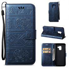 Cover Case for Samsung Galaxy A8 2018 Multi-Functional Faux Leather Wallet Stand