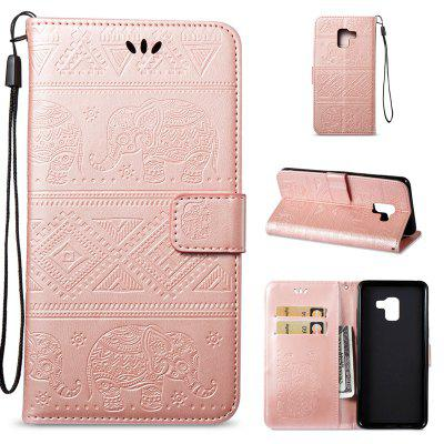 Cover Case for Samsung Galaxy A8 Plus 2018 Multi-Functional Faux Leather Wallet Stand