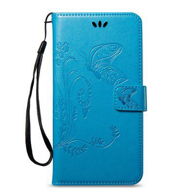 Cover Case for Samsung Galaxy A8 Plus 2018 Butterfly and Floral Leather butterfly bling diamond case