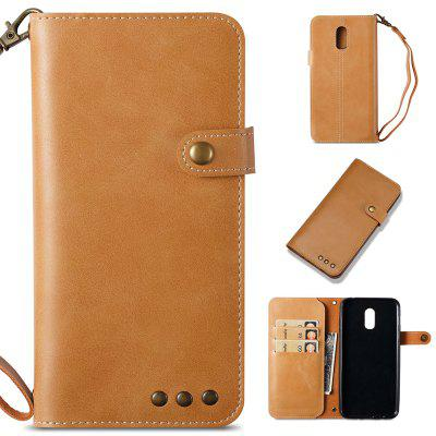 Funda para Samsung Galaxy J7 Plus Pure Color Retro Leather