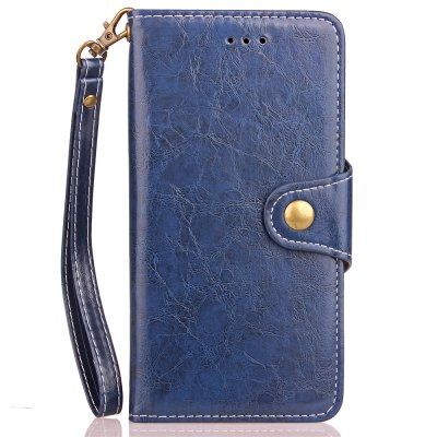 Vintage  Wax Oil Card Lanyard Pu Leather Cover for HUAWEI Honor 5C
