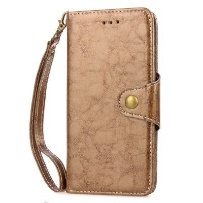Vintage  Wax Oil Card Lanyard Pu Leather Cover for Cubot MAX 6.0