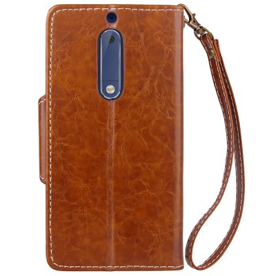 Retro Wax Oil Card Lanyard Pu Leather Cover for Nokia 5Cases &amp; Leather<br>Retro Wax Oil Card Lanyard Pu Leather Cover for Nokia 5<br><br>Color: Black,Red,Blue,Brown,Light Brown<br>Features: Full Body Cases, Cases with Stand, With Credit Card Holder<br>Mainly Compatible with: Nokia<br>Material: PU Leather, TPU<br>Package Contents: 1 x Case<br>Package size (L x W x H): 17.00 x 9.00 x 2.00 cm / 6.69 x 3.54 x 0.79 inches<br>Package weight: 0.0800 kg<br>Product Size(L x W x H): 16.00 x 8.00 x 1.50 cm / 6.3 x 3.15 x 0.59 inches<br>Product weight: 0.0690 kg<br>Style: Vintage/Nostalgic Euramerican Style, Novelty, Name Brand Style