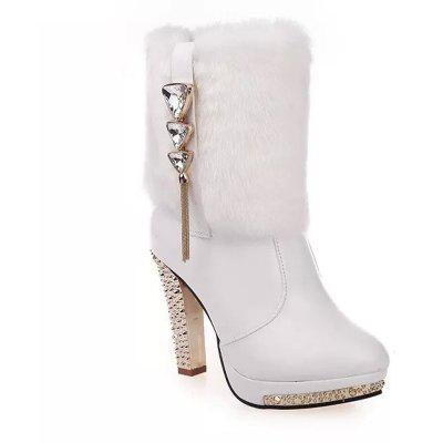 Waterproof Platform High Heels With Female Boots To Decorate Martin Boots
