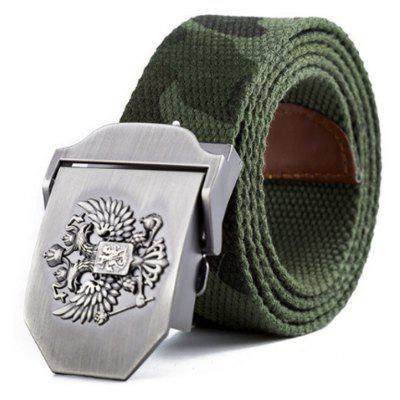 Men'S Canvas double-headed Eagle Belt