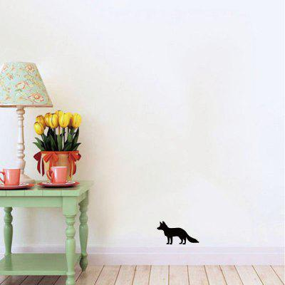 DSU   Wildlife Animal Fox Wall Sticker Cartoon Animal Silhouette Vinyl Wall Decal HomeWall Stickers<br>DSU   Wildlife Animal Fox Wall Sticker Cartoon Animal Silhouette Vinyl Wall Decal Home<br><br>Brand: DSU<br>Function: Light Switch Stickers, Decorative Wall Sticker, 3D Effect<br>Material: Vinyl(PVC)<br>Package Contents: 1 x Wall Sticker<br>Package size (L x W x H): 12.00 x 3.00 x 3.00 cm / 4.72 x 1.18 x 1.18 inches<br>Package weight: 0.0700 kg<br>Product size (L x W x H): 15.00 x 8.30 x 0.10 cm / 5.91 x 3.27 x 0.04 inches<br>Product weight: 0.0400 kg<br>Quantity: 1<br>Subjects: Fashion,Others<br>Suitable Space: Living Room,Bathroom<br>Type: Plane Wall Sticker
