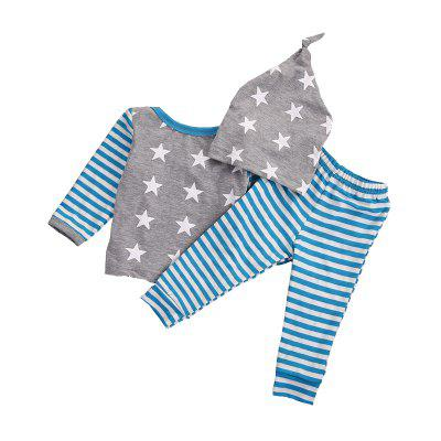 Spring Autumn Newborns Baby Clothing Stars Striped Three-Piece Long-Sleeved Baby Boy Clothes ChildrenS Suitbaby clothing sets<br>Spring Autumn Newborns Baby Clothing Stars Striped Three-Piece Long-Sleeved Baby Boy Clothes ChildrenS Suit<br><br>Closure Type: Pullover<br>Collar: Round Neck<br>Color: Blue<br>Fabric Type: Worsted<br>Gender: Boy<br>Material: Cotton<br>Package Contents: 1 x Baby Clothes<br>Pattern Style: Star<br>Season: Spring<br>Sleeve Length: Full<br>Sleeve Style: Regular<br>Style: Leisure<br>Thickness: General<br>Weight: 0.2500kg