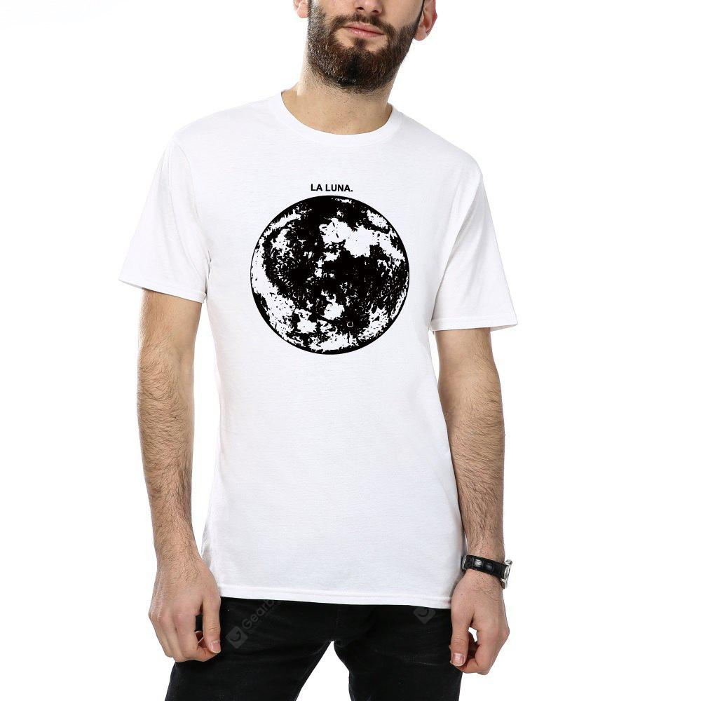 2018 New Cotton Earth Print Camisetas para hombre