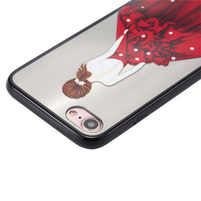 Case for iPhone 8 Non-slip Embossed Back of Beauty Pattern