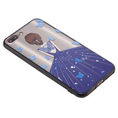 Case for iPhone 8 Plus Non-slip Embossed Back of Blue Dress Girl PatterniPhone Cases/Covers<br>Case for iPhone 8 Plus Non-slip Embossed Back of Blue Dress Girl Pattern<br><br>Features: Back Cover<br>Material: TPU, PC<br>Package Contents: 1 x Phone Case<br>Package size (L x W x H): 15.00 x 7.00 x 1.00 cm / 5.91 x 2.76 x 0.39 inches<br>Package weight: 0.0220 kg<br>Product size (L x W x H): 14.00 x 6.70 x 0.50 cm / 5.51 x 2.64 x 0.2 inches<br>Product weight: 0.0200 kg<br>Style: Beautiful Girl