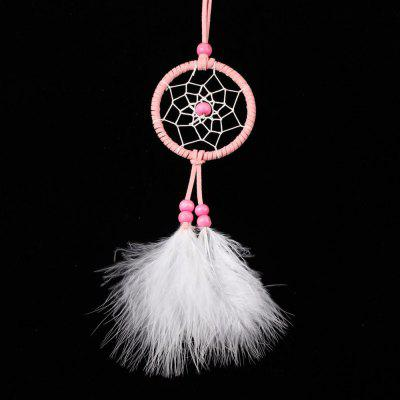 Buy PINK Creative Pink Dreamcatcher Mini Pendant for $3.23 in GearBest store