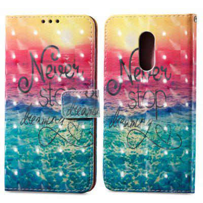Estojo de pintura 3D para Xiaomi Redmi Note 4 / 4X Ocean Pattern PU Leather Wallet Stand Cover